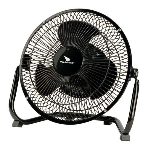 Polar Aire  8 in. H 3 speed Electric  Oscillating Air Circulator