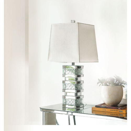Nysa Table Lamp - Mirrored & Faux Crystals
