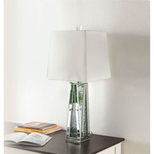 Noralie Table Lamp-  Mirrored & Faux Diamonds