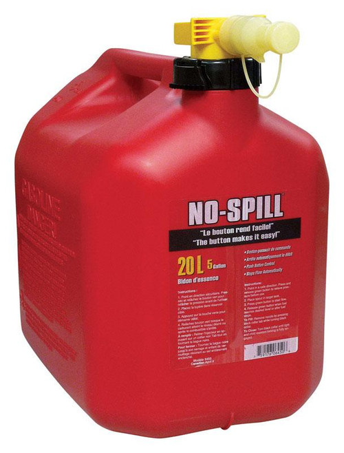 No Spill  Plastic  Gas Can  20 L