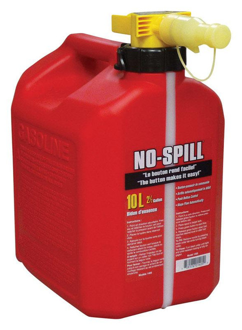 No Spill  Plastic  Gas Can  10 L