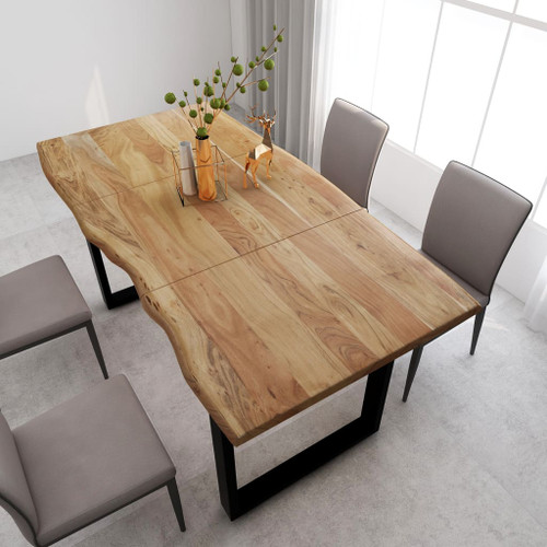 """Dining Table 70.9""""x35.4""""x29.9"""" Solid Acacia Wood"""