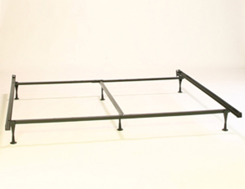 METAL BED FRAME - ADJUSTABLE   QUEEN / KING   WITH CENTER SUPPORT.