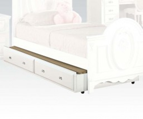 • Twin Trundle Bed • Faux Drawers • Caster Wheels Included • Optional Trundle for Flora Collection: Poster & Panel Beds