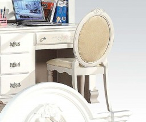 • Armless Chair • Padded Seat & Back: Fabric Cushion • Wooden Frame: Backrest/Seat Trim, Legs