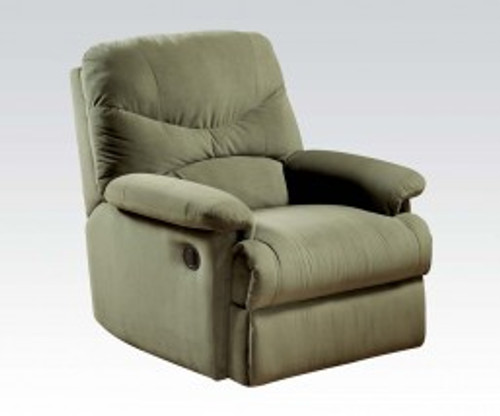 • Motion Reclining Mechanism • Tight Seat & Back Cushion •Armrest: Pillow Top • Microfiber Fabric • External Latch Handle • Optional Colors • Assembly Required ••• Clearance between Recliner and Wall: 2.3 Inches (60mm)