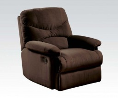 • Motion Reclining Mechanism • Tight Seat & Back Cushion • Armrest: Pillow Top • Microfiber Fabric • External Latch Handle • Optional Colors • Assembly Required ••• Clearance between Recliner and Wall: 2.3 Inches (60mm)