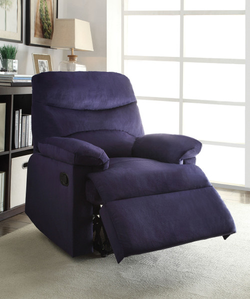 • Motion Reclining Mechanism • Tight Seat & Back Cushion • Pillow Top Arm • External Latch Handle • Optional Colors & Materials: Woven Fabric, Microfiber, PU & Bonded Leather • Assembly Required ••• Clearance between Recliner and Wall: 2.3 Inches (60mm)