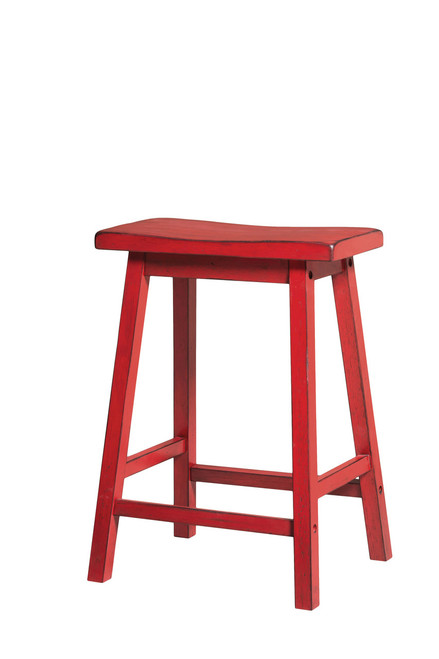 The Gaucho Counter Height Stool (Set-2) W/ Antique Red Finish