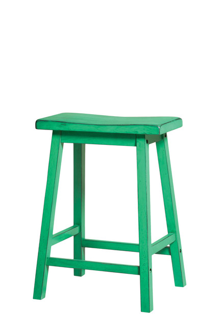 The Gaucho Counter Height Stool (Set-2) W/ Antique Green Finish