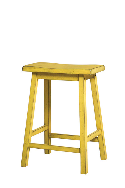 The Gaucho Counter Height Stool (Set-2) W/ Antique Yellow Finish