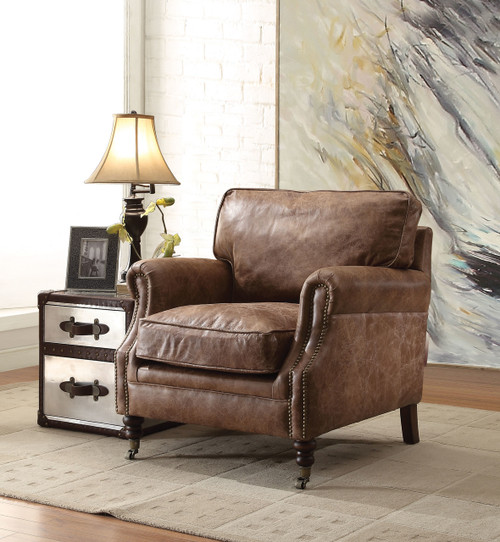 The Dundee Accent Chair W/ Retro Brown TGL Finish