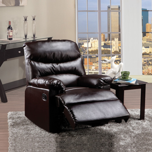 The Arcadia Recliner (Motion) W/ Brown PU Finish