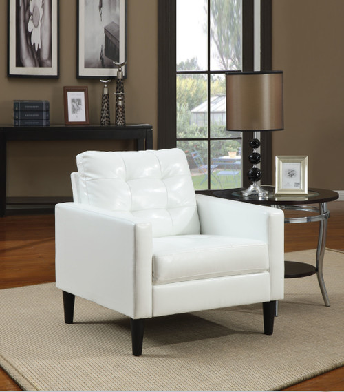 The Balin Accent Chair W/ White PU Finish