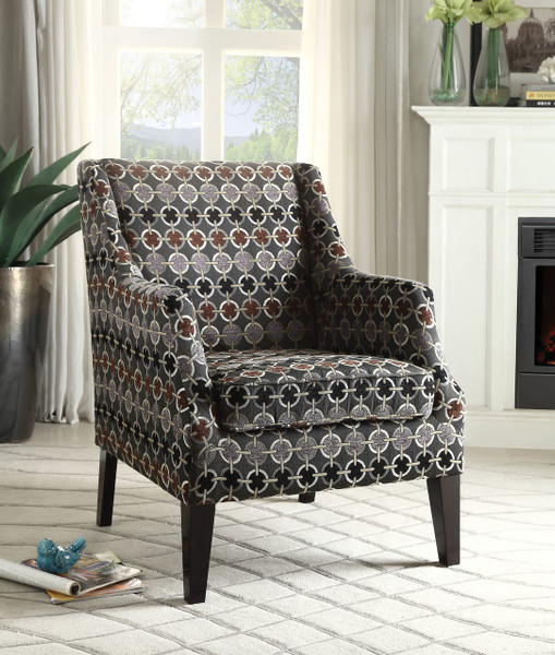 The Zarate - Accent Chair W/ Pattern Fabric Finish