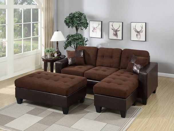 All-In-One Chocolate Sectional