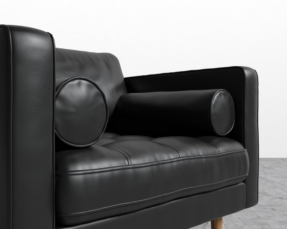 Luca Armchair Waxy Leather Palermo Black 4