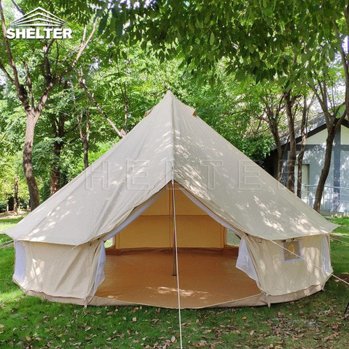 4m (13') Glitzcamp Bell Tent Front View
