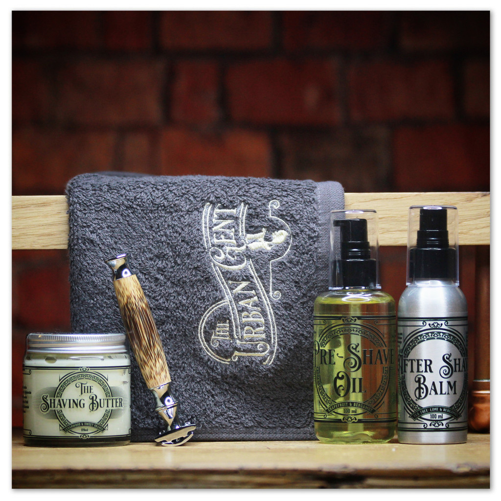 "The "" Gentleman's Routine "" Luxury Traditional Shaving Kit"