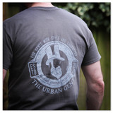 The Urban Gent Vintage Print T Shirt - Charcoal Grey