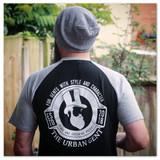The Urban Gent Retro Baseball T Shirt - Black/Grey