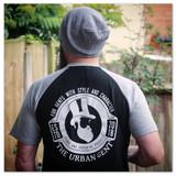 The Urban Gent Retro Baseball T Shirt - Black/Grey