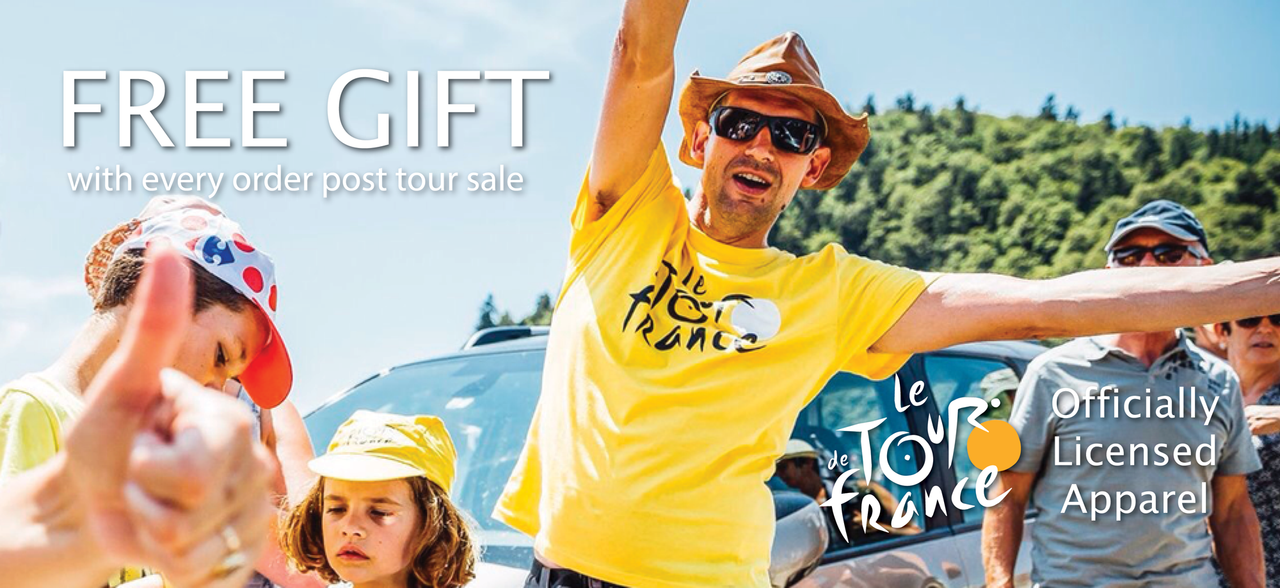FREE Gift with every tour de france order post tour sale