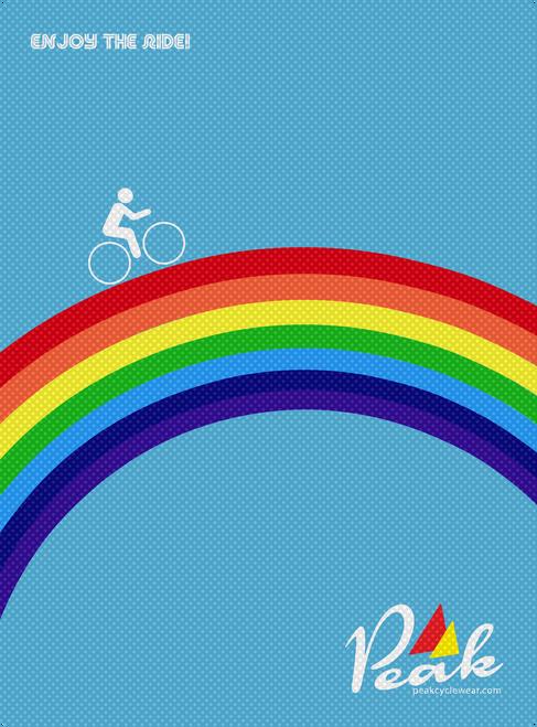 Peak A3 Rainbow Poster