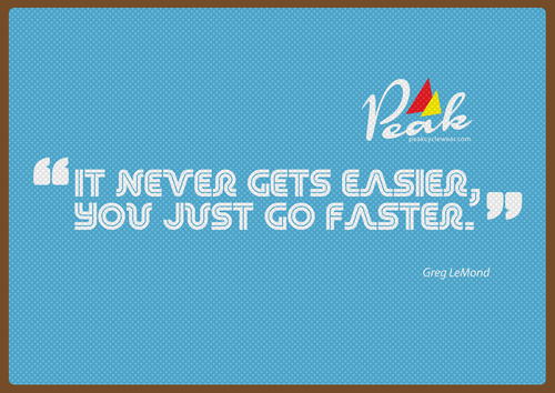 Peak A3 Lemond Quote Poster