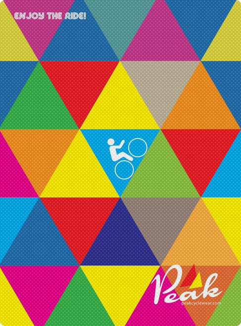 Peak A3 Triangles Poster