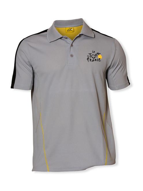 le Tour de France Official Logo Sports Polo in grey.