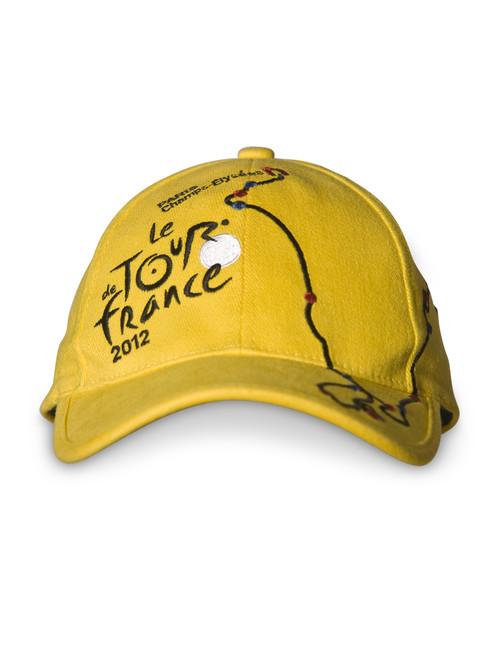 le Tour de France 2012 'Course Map' Cap in yellow.
