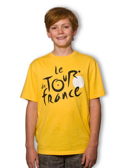 le Tour de France Kids Logo T-Shirt in Leaders Yellow