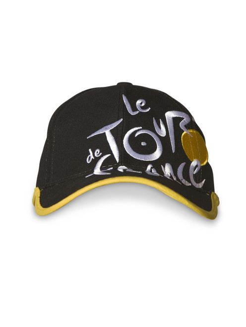 le Tour de France logo Cap in black.