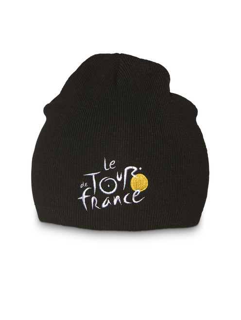 le Tour de France woven Beanie in black.