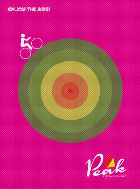 Peak A3 Circle Poster