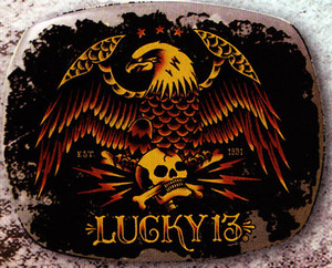Lucky 13 Pride Belt Buckle