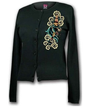 Lucky 13 Panther Head Cardigan