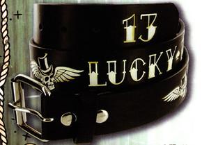 Lucky 13 Winged Hatter Belt