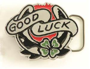 Sailor Jerry Good Luck Belt Buckle