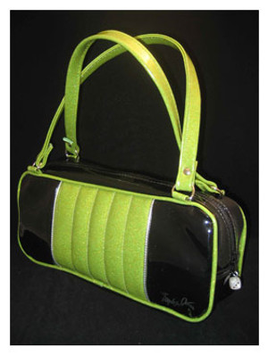 Trophy Queen Lime Green and Black Roadster Bag