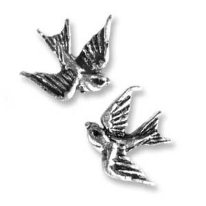 Alchemy Swallow Stud Earrings