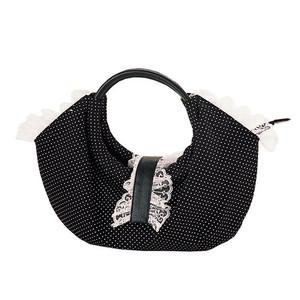 Demonia Canvas Polka Dotted Lolita Handbag