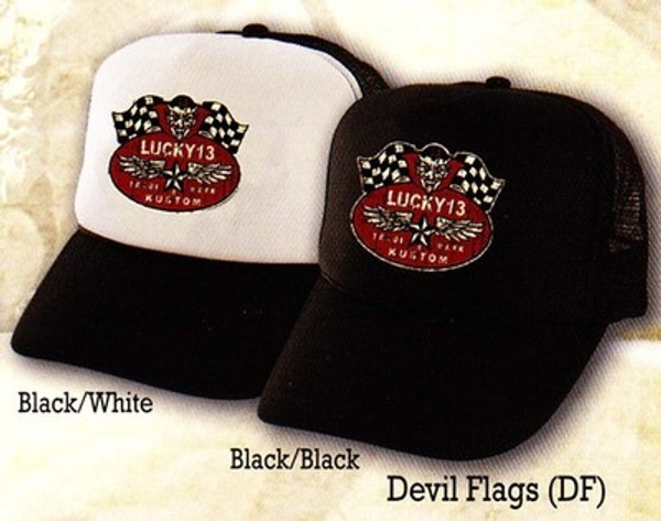Lucky 13 Devil Flags Hat