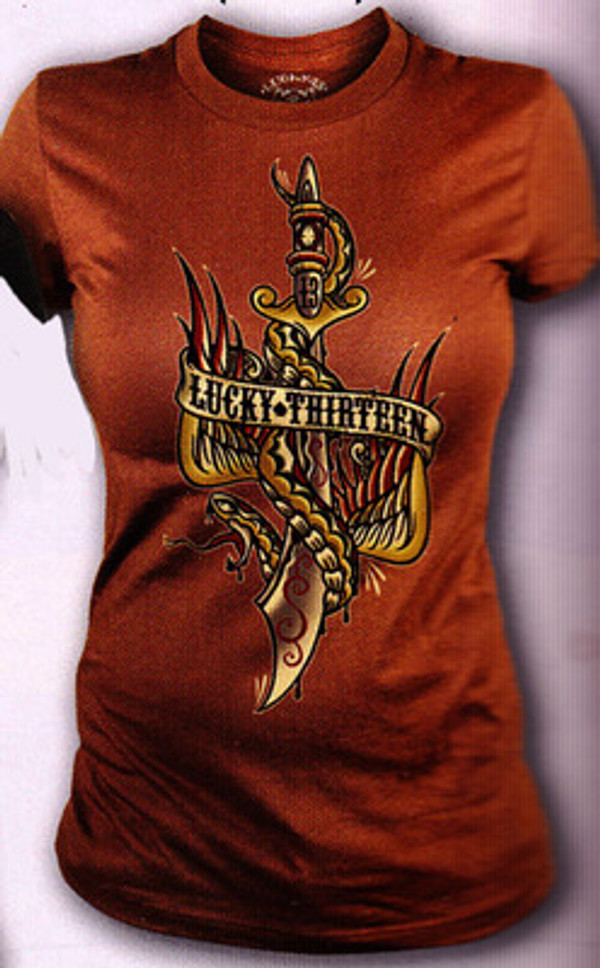 Lucky 13 Flying Dagger Vintage T-Shirt