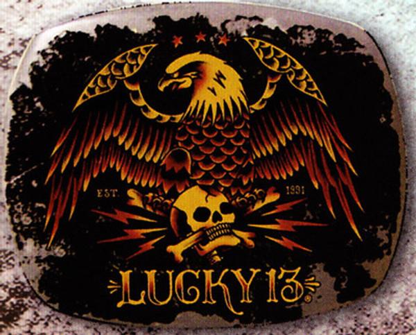 Lucky 13 Pride Belt Buckle