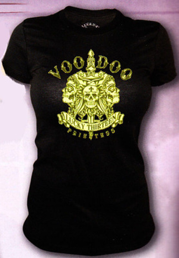 Lucky 13 Voodoo Priestess Vintage T-Shirt
