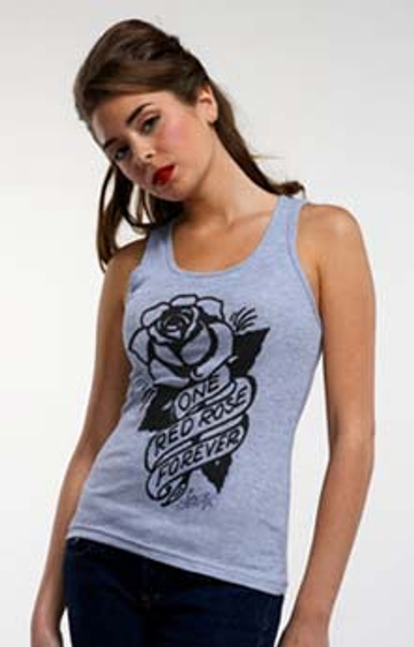 Sailor Jerry One Red Rose Tank Top