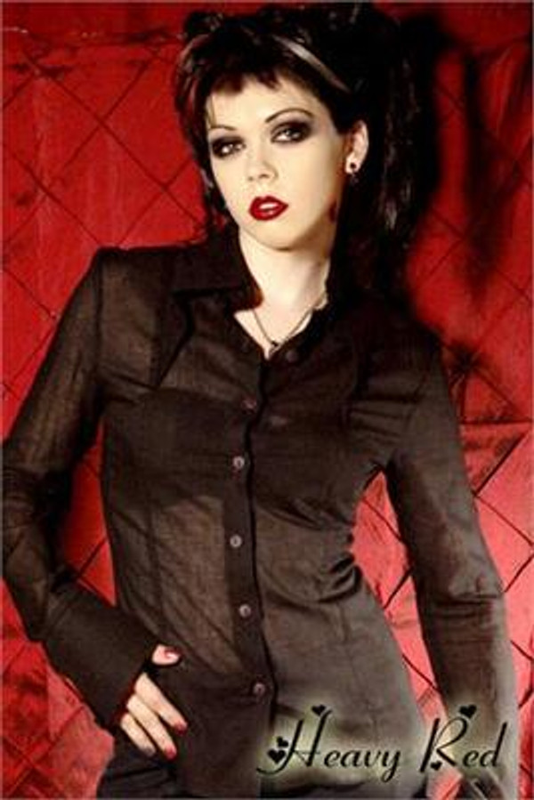 Heavy Red - Deviant Voile Black Dress Shirt