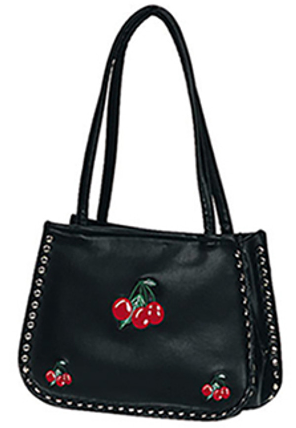 Demonia Shoulder Purse with Cherries